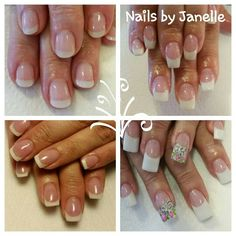 Four different french manicures! #salonchicvalleysprings #nailsbyjanelle #salonchicboutique