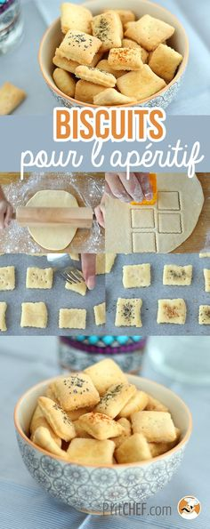 Biscuits apéritif faits maison, Recette Ptitchef - Expolore the best and the special ideas about Budget freezer meals Gourmet Recipes, Appetizer Recipes, Cookie Recipes, Budget Freezer Meals, Good Food, Yummy Food, Salty Foods, Chocolate Recipes, Food Print