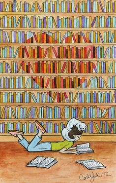 Reading Art, Love Reading, I Love Books, Books To Read, Library Art, Lectures, Book Images, Book Reader, Book Nooks