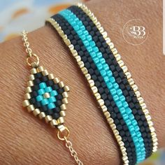 SPUNKYsoul Bohemian Multi-Colored Beaded Cuff Bracelets for Women Collection (Teal/Red/Cube) – Fine Jewelry & Collectibles Loom Bracelet Patterns, Bead Loom Bracelets, Beaded Jewelry Patterns, Bead Loom Patterns, Bead Jewellery, Seed Bead Jewelry, Motifs Perler, Brick Stitch Earrings, Metal Beads