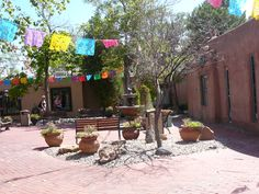 Courtyard with cute shops - Albequerque, NM
