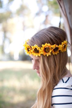 Billie Flower Headband by TheBelovedHope on Etsy