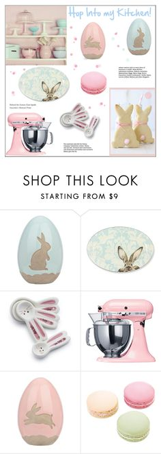 """""""Hop Into My Kitchen"""" by pat912 ❤ liked on Polyvore featuring interior, interiors, interior design, home, home decor, interior decorating, KitchenAid, Williams-Sonoma, Sur La Table and Ladurée"""