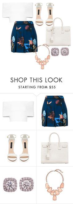 """Untitled #731"" by jmajersky ❤ liked on Polyvore featuring Rosetta Getty, Proenza Schouler, Forever New, Yves Saint Laurent and Kendra Scott"