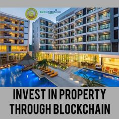 Invest In Property Through Blockchain Investment Property, Blockchain, Investing, Foundation, Multi Story Building, Mansions, House Styles, Manor Houses, Villas