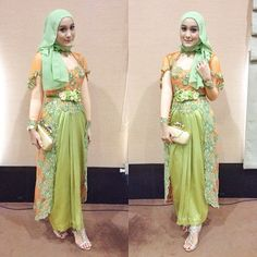 Kebaya dress with inner shirt