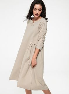 Latest fashion trends in women's Dresses. Shop online for fashionable ladies' Dresses at Floryday - your favourite high street store. Latest Fashion Trends, Casual Dresses, Cold Shoulder Dress, High Neck Dress, Buttons, Lady, Long Sleeve, Shopping, Clothes