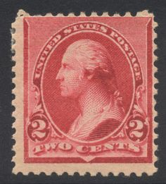 US Small Banknote Sc # 220 1890-93 2c MINT H Cat $20.00 - http://stamps.goshoppins.com/united-states-stamps/us-small-banknote-sc-220-1890-93-2c-mint-h-cat-20-00/