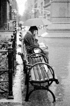 Reader in the rain. New York: Union Square