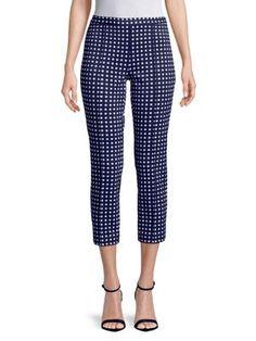 Geometric-Print Crop Pants