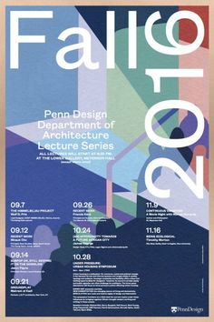 "visualgraphc: ""PennDesign Fall lecture poster 2016 - Graphic design : WeShouldDoItAll, Painting : Diane Dal-pra """