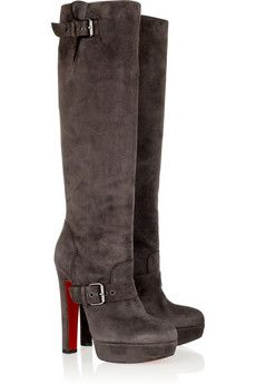00b323eacded Christian Louboutin - Harletty 140 suede knee boots