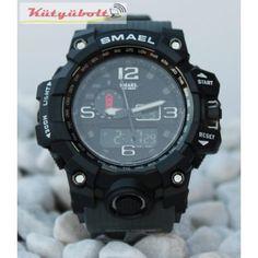 Smael duál kijelzős férfi karóra - Szürke CK497378 Digimon, Watches, Wristwatches, Clocks