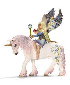 Look at this #zulilyfind! Bilara & Unicorn Figurine Set #zulilyfinds