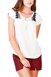 Emory Street Embroidered Top