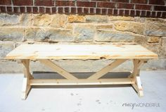 Crazy Wonderful: DIY bench and my finished entry