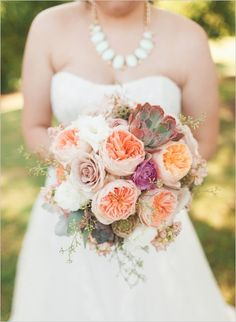 Oklahoma peach and mint wedding. Captured By: Magnolia Adam's Photography #weddingchicks http://www.weddingchicks.com/2014/09/16/oklahoma-peach-and-mint-succulent-wedding-day/