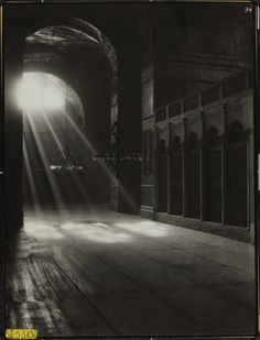 Conservation of Hagia Sophia mosaics, Istanbul, 1931-1964. Study of Light.  Study of light, south aisle, looking east. 1936here