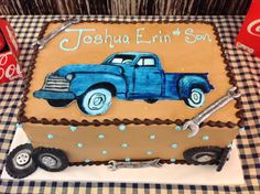 60 Best Ideas For Vintage Truck Cake Ideas Truck Birthday Cakes, Truck Cakes, 50th Birthday Party, Monster Truck Birthday, Birthday Ideas, Car Cakes For Men, Cakes For Boys, Baby Shower Cakes, Cake Designs