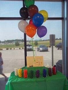 Karate party ideas love the balloons and gumballs in the belt colors