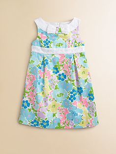 5adbe78e828b Lilly Pulitzer Kids - Toddler s   Little Girl s Mini Henley Floral Dress