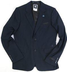 G-Star RAW CORRECT BLAZER 2, Men's, Navy, 100% Authentic by G-Star | eBay