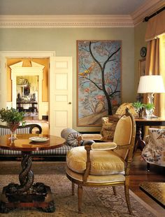 Suzanne Rheinstein's famous sitting room  from Mark D. Sikes: Chic People, Glamorous Places, Stylish Things