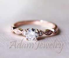"Fancy VS Brilliant Moissanite Ring 14K Rose Gold Accent Diamonds Engagement Ring /Wedding Ring/ Promise Ring [ ""Moissante Engagement Ring Engagement Ring by OliveAvenueJewelry"", ""Fancy Brilliant Moissanite Ring Rose Gold by AdamJewelry"", ""*** Wild discounts on amazing jewelry at…"" ] # # #Princess #Rings, # #Rose #Gold #Rings, # #Promise #Rings, # #Diamond #Engagement #Rings, # #Wedding #Dreams, # #Dream #Wedding, # #Wedding #Rings, # #Wedding #St..."