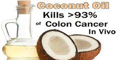 COCONUT OIL KILLS >93% OF COLON CANCER CELLS IN VIVO