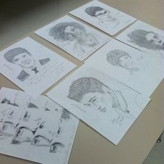 portrait drawings of one direction not mine. One Direction Drawings, Pretty Good, First Love, Portrait, Art, Art Background, First Crush, Headshot Photography, Kunst