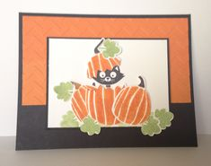 This card has been in my head for quite some time, but I have been lacking the Fall Fest stamp set for the pumpkins. I thought it would be so cute to have a cat peeking out of a pumpkin, and I love...
