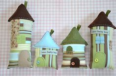 SALE / Baby Boys' Decorative Fabric Houses Baby by pinkprairies, $37.50