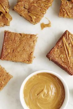 Apple-Cinnamon Bars with Peanut Butter Glaze Recipe