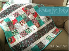 Birdies for Baby Free Quilt Pattern featuring the Cottage Garden by Riley Blake Designs