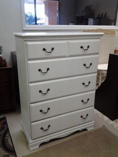 White Dresser, purchased and customized here at the shop