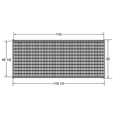 Temporary fence security | Our panels are built with superior 10 gauge 2″ x 4″ mesh. There are no loose wires to snag or catch. The mesh is welded directly to the square tubing frame using a continuous weld and both the 6′ and 8′ high portable fence panels include a 1″ x 1″ square tubing centre rail for strength. | Hi-Hog | http://hi-hog.com/portable-security-fence/#