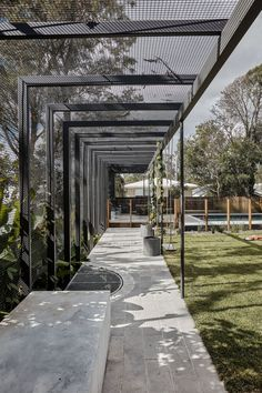 NIELSEN JENKINS. — WEBBER HOUSE Pergola Designs, Patio Design, Exterior Design, Garden Design, Urban Landscape, Landscape Design, Landscape Structure, Shade Structure, Outdoor Pergola