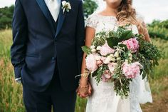 Bride + Groom - Beautiful Boquet