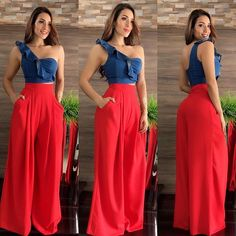 Fashion Tips For Women Life Fashion Pants, Look Fashion, Hijab Fashion, Denim Fashion, Girl Fashion, Fashion Dresses, Womens Fashion, Fashion Design, Classy Outfits