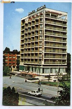 Hotel Galati, Galati, Romania, (postcard from the Brutalist, Scenery, Country, Building, Places, Pictures, Vintage Postcards, Photos, Landscape