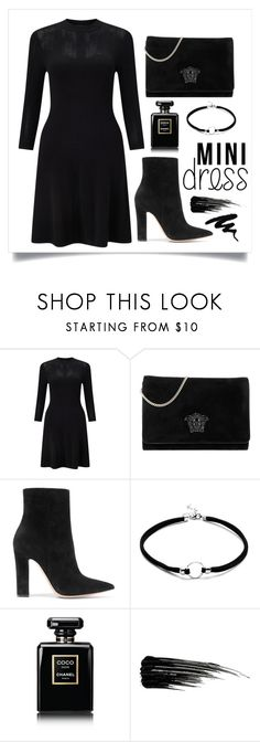 """""""Untitled #31"""" by raniasp ❤ liked on Polyvore featuring Miss Selfridge, Versace, Gianvito Rossi, Chanel and Urban Decay"""