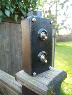 Vintage Retro Industrial 1930s RARE 2GANG G E C Light Switch Steampunk Crabtree | eBay