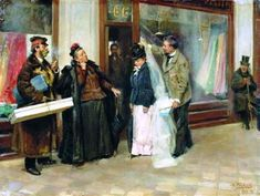 Vladimir Makovsky - The Choice of Wedding Presents - 1898