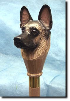 German Shepherd Dog Walking Stick Our unique selection of handpainted Dog Breed Walking Sticks is sure to please the most discriminating Dog Lover! Be the envy of everyone with this unique canine walk                                                                                                                                                                                 More