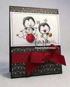 Faye Wynn-Jones: Stampin Fluff N Stuff for C.C. Designs - 9/29/14 (ccdesigns: Holiday Penguins)   (Pin#1: C.C.Designs.  Pin+: Christmas: Snowmen/ Penguins)