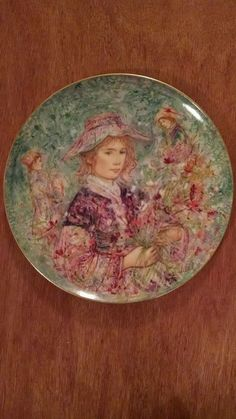 Flower Girl of Provence by Edna Hibel, Commemorative Plate in Collectibles, Decorative Collectibles, Collector Plates | eBay