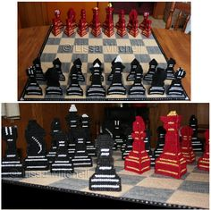 PDF FORMAT Chess game in Plastic Canvas by Lissa by kathybarwick, $6.20