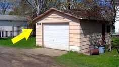 Couple turns their teeny garage into fully-functional cottage Small Space Living, Tiny Living, Living Spaces, Compact Living, Living Room, Tiny House Cabin, Tiny House Plans, Big Houses, Types Of Houses