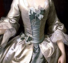 """Portrait of a Lady"" (1750) (detail) by Thomas Hudson (1701-1779)."