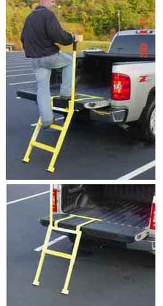 These Portable Steps are great for loading and unloading your truck, or just hopping in and o. - Bring both the essentials and the things that make family outdoor camping enjoyable. This camping c - Tailgate Step, Truck Tailgate, Truck Camping, Tailgate Parties, Camping Cot, Football Parties, Motorcycle Camping, Accessoires 4x4, Camper Steps